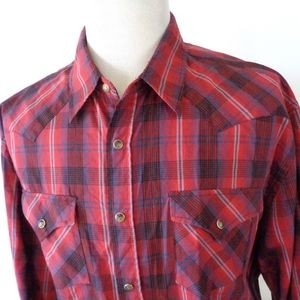 Pendleton XXL Tall Pearl Snap FRONTIER Shirt Plaid